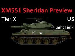 world of tanks tier 10 light tanks xm551 sheridan tier 10 american light tank preview stats world