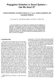 aes e library propagation distortion in sound systems can we