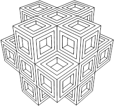 geometric coloring pages coloring page