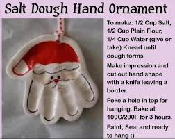 salt dough print santa ornament diy cozy home
