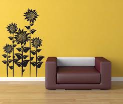 Sunflower Home Decor by Sunflower Decor Sunflowers Floral Wall Decal Flower