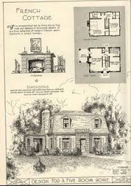 French Cottage Floor Plans 1935 French Eclectic House Plan Ladies Home Journal French