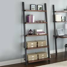 Bookcase Desk Diy Ana White Leaning Wall Ladder Desk Diy Projects With Regard To