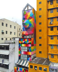 3d Hole Murals 3d Cake Image Okuda San Miguel Adds Rainbow Thief To A Narrow Residence In Hong Kong