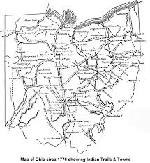Map Of Ohio by 1776 Ohio Map
