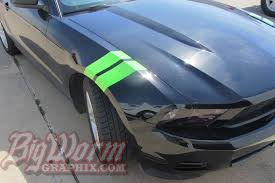 Green Mustang With Black Stripes 2010 14 Mustang Hash Mark Stripes