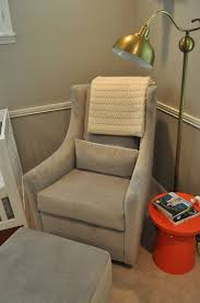 bedroom orange end table closed iron floor lamp beside nice baby