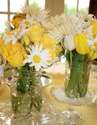 Mason Jar Flower Arrangement Flowers In Mason Jars Blue Eye Brown Eye