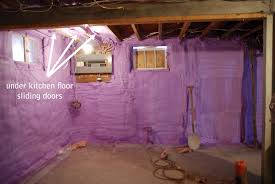 insulating basement walls with spray foam interior design for home