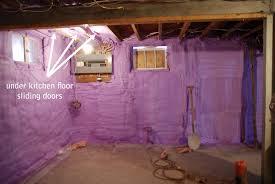cool insulating basement walls with spray foam decoration idea