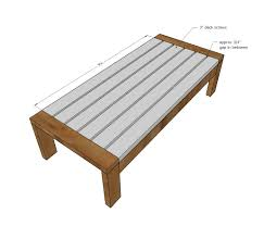 Free Plans For Outdoor Sofa by Ana White 2x4 Outdoor Coffee Table Diy Projects