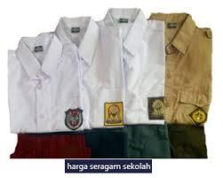 Seragam Sekolah Lengan Panjang daftar harga baju seragam sekolah lengkap murah pasaran harga