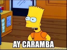 Bart Simpson Meme - ay caramba bart simpson tv meme generator