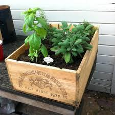 herb garden planter box ideas home outdoor decoration