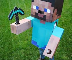 print your own halloween mask minecraft steve costume 6 steps with pictures