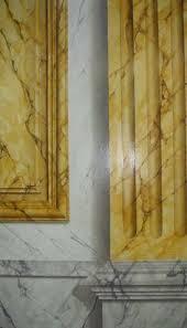 Marble Faux Painting Techniques - vert de mer marble with trompe l u0027oeil molding painted faux