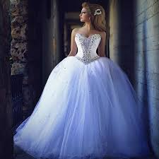 wedding dresses sweetheart neckline princess ball gown blue