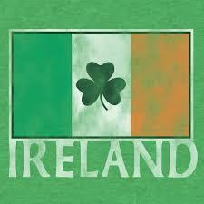 Irrland Flag Ireland Flag With Shamrock U2013 Tee Luv