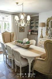 French Country Chair Cushions - french country round dining table and chairs decor room style