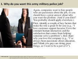 Military Police Job Description Resume by Top 10 Army Military Police Interview Questions And Answers