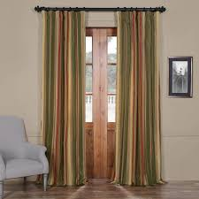 buy mirage faux silk taffeta stripe curtains panel