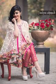 zahra ahmed cape dress for party wear 2016 pakifashionpakifashion