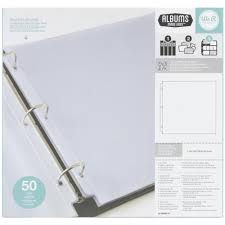 Photo Album Refill 12x12 Album Refills Full Page 50 Pack We R Memory Keepers