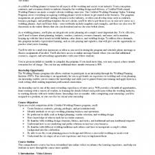 event planners and events deafdcfa cover letter