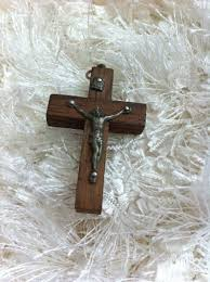 cross jesus necklace images Crucifix pendant in sterling silver on wood cross jesus christ jpg