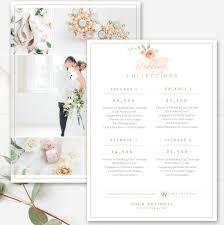 photography price list template wedding price sheet photographer