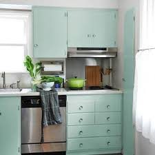 Kitchen Cabinets Green Mint Green Cabinets Cottage Kitchen Bhg