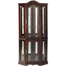 southern enterprises china cabinet southern enterprises lighted corner curio cabinet mahogany finish