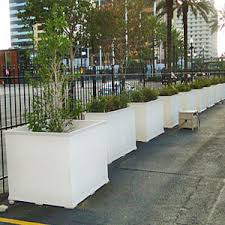 large commercial outdoor pvc plastic planter boxes for trees