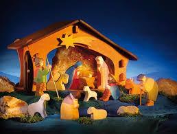 wooden nativity set ostheimer nativity set in wooden box myriad toys crafts