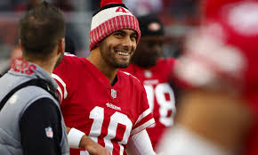 christmas gifts for 49ers fans jimmy garoppolo gives patriots an early christmas present patriots