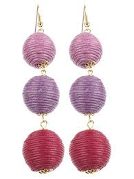 purple drop earrings ginga s galleria thread drop earrings