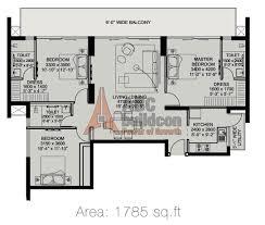 3 bhk ild arete floor plan archives floorplan in