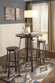 signature design by ashley challiman industrial style round dining