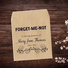in memory of gifts personalised 25 x personalised custom forget me not flower seed favours funeral