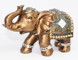 decorating indian brass elephant figurines for home accessories ideas