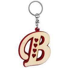 the marketvilla single sided wooden keychains alphabet letter