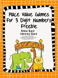 printable math games on place value place value games freebie for 3 digit numbers from games 4