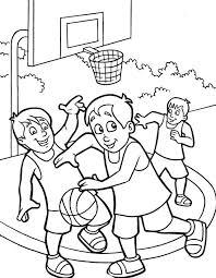 stunning basketball coloring pages boys photos printable