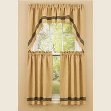 country swag curtains burlap u0026 check black swags 72