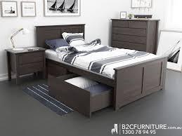 King Single Bed Storage Kids Beds White BC Furniture - Childrens bedroom furniture melbourne