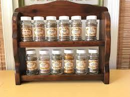 rustic wood display cabinet countertop spice rack and jars rustic wooden display cabinet