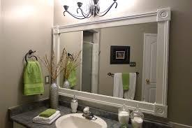 White Framed Oval Bathroom Mirror - white framed bathroom vanity mirrors beautiful white framed