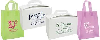 wedding gift bags for guests affordable personalized napkins gift bags favor boxes and