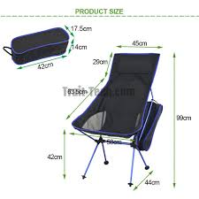 Ultra Light Folding Chair Portable Folding Outdoor Camping Chair For Hiking Picnic Fishing