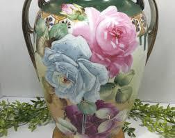 Nippon Hand Painted Vase Nippon Vase Etsy